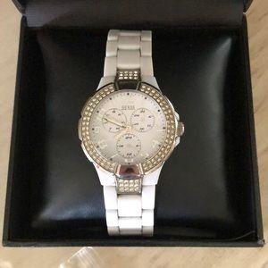 Guess women's white watch